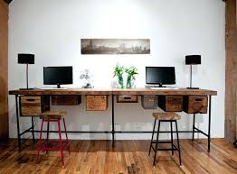 Reclaimed Wood Desk Top Office Furniture Modern Custom Contemporary Reclaimed Wood Desks Avideh Me