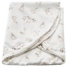len غطاء وسادة رضاعة نقش أرنب أبيض 60x50x18 سم ikea