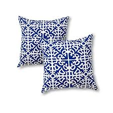 Greendale Home Fashions 17 In Outdoor Accent Pillow Set Of 2 Indigo