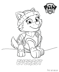 Paw Patrol Coloring Pages To Print Tracker