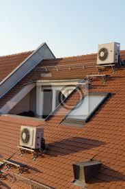 dachgeschoss mit klimaanlagen bilder myloview