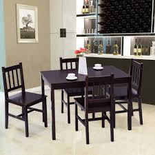 Casart 5 Piece Wood Dining Table Set 4 Chairs Home Kitchen Breakfast  Furniture (Brown) Argos Home Lido Glass Ding Table 4 Chairs Black Winsome Wood Groveland Square With 5piece Ktaxon 5 Piece Set4 Chairsglass Breakfast Fniture Crown Mark Etta And Bench 22256p Hesperia Casual Drop Leaves Storage Drawer By Coaster At Value City Braden Set Includes Morris Furnishings Tall Ding Table Chairs Height Canterbury Ekedalen Dark Brown Orrsta Light Gray Cascade Round Kincaid Becker World Costway Metal Kitchen