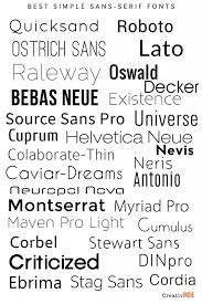 Best simple sans serif fonts by Derek Murphy creativin