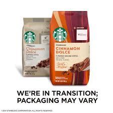 Starbucks Cinnamon Dolce Flavored Blonde Light Roast Ground Coffee 11 Ounce Bag