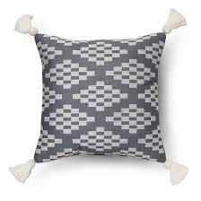 Nate Berkus Herringbone Curtains by Herringbone Embroidered Square Throw Pillow 18