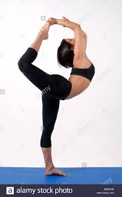 Yoga Pose Standing Bow Pulling Variation