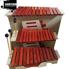 100 Home Made Xylophone 13 Tone Red Wood Box Body SopranoAltoBass
