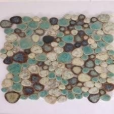 beautiful porcelain pebble tile for bath backsplash porcelain