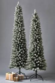 Pre Lit Pencil Christmas Trees Uk by Buy Pre Lit Snow Tipped Pencil Christmas Tree 6ft At Argos Co Uk