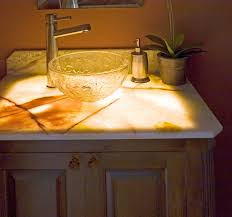 Bathroom Vanity Tops With Sink by Bahtroom Silver Crane Above Pretty Glass Bowl Sink Beside Soap And