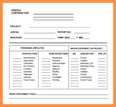 Work Log Template Excel Daily Templates Construction Sheet