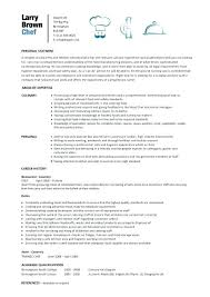 Resume Summary Examples Cook As Well Chef Pattern Sample To Make Remarkable For High School Students 555