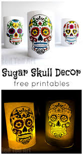 Easy Sugar Skull Day Of by Paper Day Of The Dead Luminaries Red Ted Art U0027s Blog