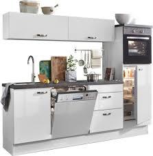 optifit küchenzeile cara ohne e geräte mit vollauszü und soft funktion breite 240 cm kaufen otto