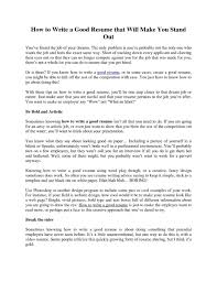 How To Write A Excellent Resume by How To Make Proper Resume How Write A Resume Impressive Cvs