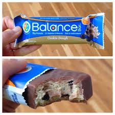They Call It Balance Because Has 40 Carbs 30 Protein And Dietary Fat Was Chewy Cookie Dough Coated In A Layer Of Milk Chocolate
