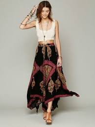Bohemian Skirt Outfit What Kind Of Top To Wear With A