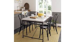 vienna black wood dining chair and cushion crate and barrel