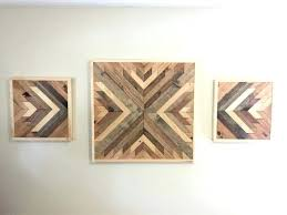 Rustic Wood Wall Decor And Metal Distressed