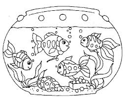 Various Fish Inside Tank Coloring Page
