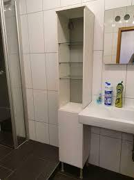 badezimmer hochschrank höhenverstellbar mit glasfächer