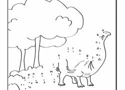 Alphabet Dot To Dinosaur