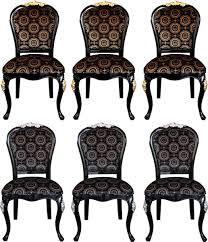 pompöös by casa padrino luxus barock esszimmer stühle mit krone schwarz gold schwarz silber 6 stühle harald glööckler möbel pompöös by casa