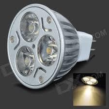 mr16 3 led 3w 210lm 2800k warm white ceiling spot light bulb 12v