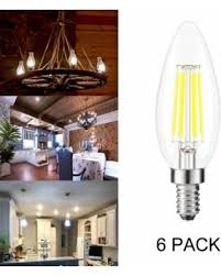 62 kohree candelabra led filament bulbs dimmable