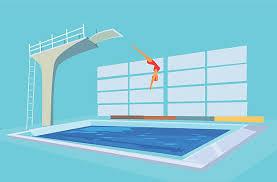 Royalty Free Diving Board Clip Art Illustration