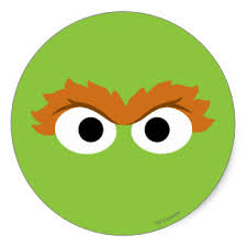 Oscar The Grouch Pumpkin Carving Stencil by Oscar The Grouch Sesame Street Stickers Zazzle