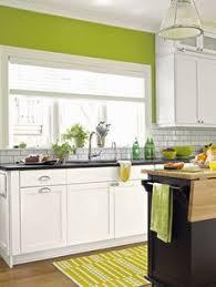 Grey Cream Lime Green Kitchen