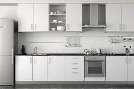 White Kitchen Tiles Ideas Interior Design Of Modern White Kitchen Stock Images Page