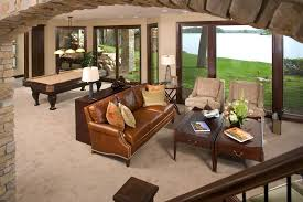 Transitional Living Room Leather Sofa by Leather Sofa Fabric Chairs Living Room Contemporary With Wall