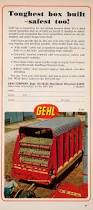 Machine Shed Appleton Wi by 1968 Ad Gehl Forage Box Agriculture Machine Farming Equipment
