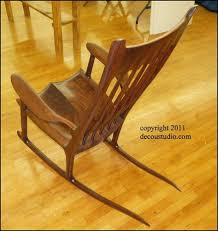 Sam Maloof Rocking Chair Class by Sam Maloof Inspired Rocking Chair Kansas Black Walnut Sculpted