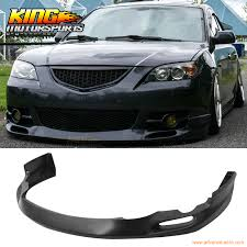 for 04 06 05 mazda 3 s type urethane front bumper lip spoiler pu