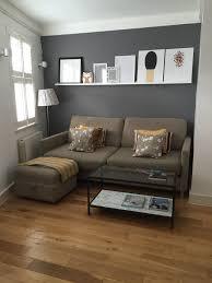 kleines wohnzimmer mit grauer wandfarbe living room paint
