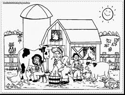 Great Farm Animal Coloring Pages With Free And Jungle