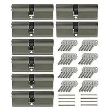 danger 15 keyed alike lock 3x profile cylinder 90mm 45 45