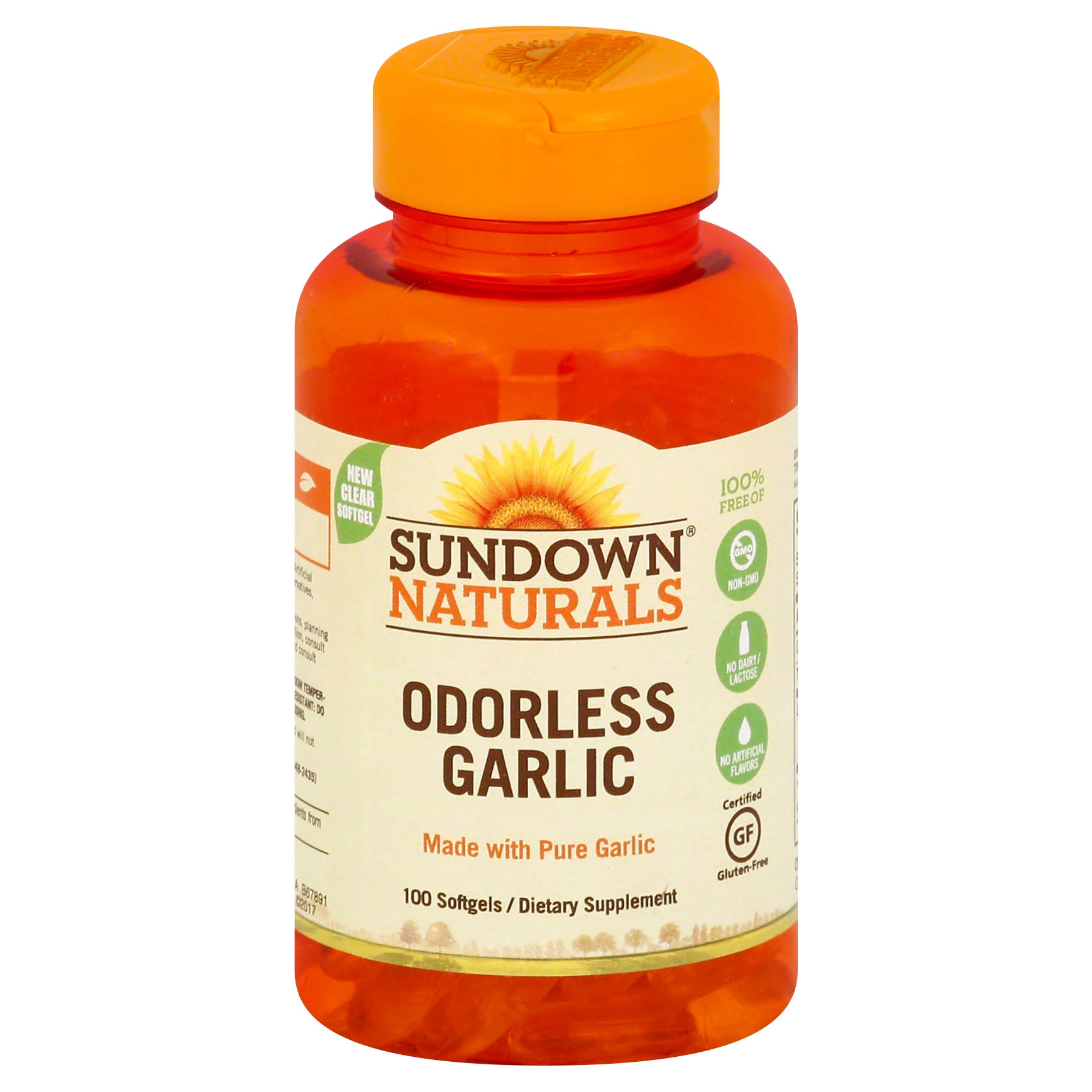 Sundown Odourless Garlic Supplement - 100ct