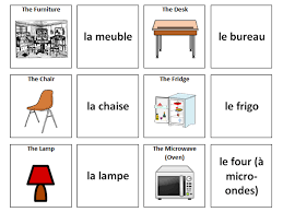 Furniture French Vocabulary Card Sort By Ineedtoteachthat