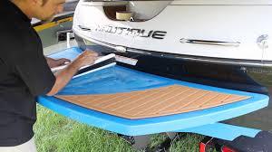 Non Skid Boat Deck Pads by Installing A New Set Of Seadek Swim Platform Pads Youtube