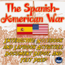 the spanish american war interactive notebook activities with