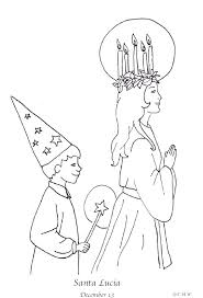 St Lucia Coloring Page One Of My Favorite Things Swedish Christmas