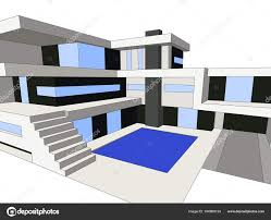 100 Modern Homes Magazine Vector Illustration House Background Building City Scene