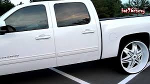 ALL WHITE Chevy Silverado Truck On 30