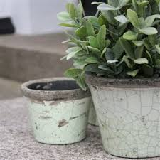 Rustic Glazed Flower Pots