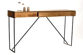 bureau metal bois design d intérieur bureau en bois design simple deskconsole in