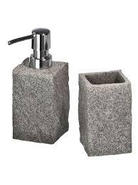 wenko bad accessoire set granit 2 teilig klingel
